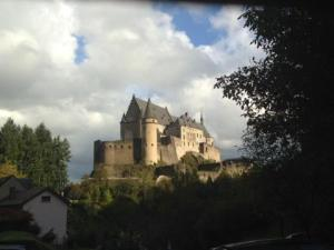 Vianden Castle in Luxembourg: Paring down the stops allowed time for an impromptu photo op.